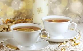 Картинка праздник, чай, Новый Год, Рождество, Christmas, New Year