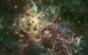 Обои бесконечность, скопления, вечность, галактики, неизвестность, вселенная, безмятежность, миры, звезды