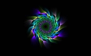 Обои цвет, лучи, спираль, симметрия, узор