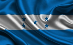 Картинка Флаг, Текстура, Flag, Honduras, Республика Гондурас, Гондурас