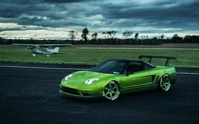 Картинка car, самолет, tuning, автообои, honda nsx
