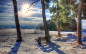 Картинка пейзаж, Зима, Германия, Ландкерн