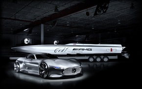 Обои mercedes, benz, cigarette, racing, vision gt, concept