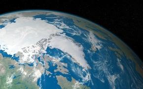 Обои земля, планета, пейзаж, космос
