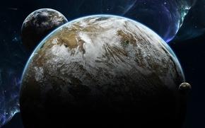 Картинка Звезды, Комета, Туманность, Планеты, Syncronicity