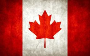 Обои Клен, Флаг, Канада