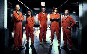 Обои Джесс, Алекс, Finn, 5 season, Финн, Jess, Эбби, Джозеф Уильям Гилган, Руди Уэйд, Matt Stokoe, ...