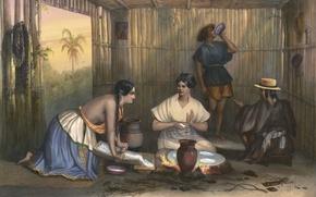 Картинка картина, живопись, painting, Voyage, C.Nebel, Las Tortilleras