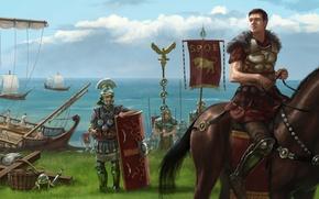 Картинка Арт, SPQR, Центурион, Римские легионеры, Древнеримская армия