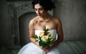 Обои невеста, Sabina, букет