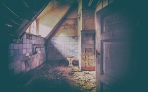 Картинка light, window, inside, room, door, toilet, decay