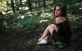 Картинка взгляд, природа, ножки, Россия, прелесть, плечо, Георгий Чернядьев, Василиса Саровская, Vasilisa