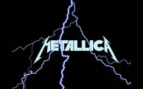 Картинка музыка, молния, music, лого, logo, Rock, Рок, Metallica, трэш-метал, thrash metal, тяжелый рок, hard rock, …