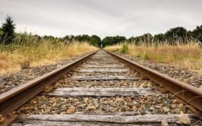 Картинка пейзаж, природа, железная дорога