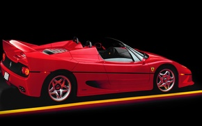 Обои ferrari f50, spider, supercar, red