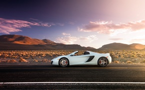 Картинка дорога, McLaren, supercar, MP4-12C, макларен, Spider