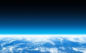 Обои много, горизонт, планета