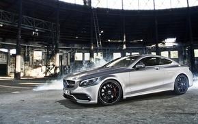 Картинка Mercedes-Benz, Car, AMG, Coupe, Smoke, Class, Premium, S63