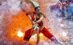 Обои folk parade, танец, Taiwan