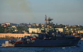 """Картинка корабль, Черноморский Флот, сторожевой, проект 1135-М, """"Пытливый"""""""