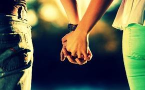 Картинка девушка, любовь, фон, сила, widescreen, обои, настроения, женщина, чувства, защита, руки, пара, опора, прикосновение, wallpaper, …