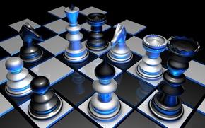 Картинка игра, цвет, шахматы, объем, фигуры