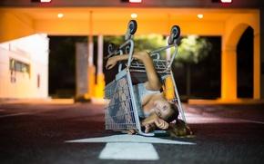 Картинка девушка, фон, ситуация, коляска