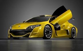 Картинка машины, yellow cars рено меган, renault megane trophy
