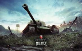 Картинка World of Tanks, ПТ-САУ, Мир Танков, T110E4, Wargaming Net, Противотанковые САУ, Blitz, WoT: Blitz, World …