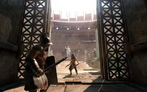 Картинка оружие, ворота, арена, колизей, гладиаторы, Ryse: Son of Rome