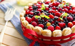 Обои черника, пирог, сладкое, еда, выпечка, малина, ягоды