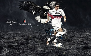 Картинка wallpaper, sport, football, player, Mario Gomez, Besiktas JK