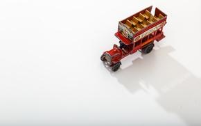 Картинка white, shadow, miniature, double-decker bus