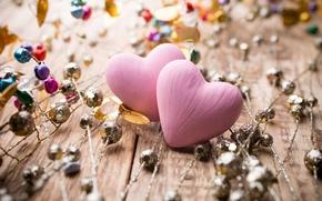 Обои украшения, любовь, фон, розовый, widescreen, обои, настроения, сердце, сердечки, wallpaper, love, широкоформатные, background, полноэкранные, HD ...