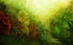 Обои рисунок, растения, Зеленый