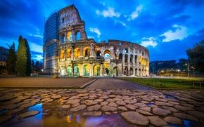 Обои ruins, Italy, Rome, Coliseum