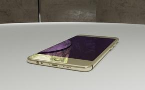 Картинка дизайн, стол, apple, телефон, iphone, 3ds max, смартфон, Vray