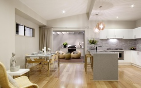 Картинка дизайн, стиль, интерьер, кухня, столовая, жилое пространство