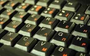 Картинка компьютер, кнопки, клавиатура