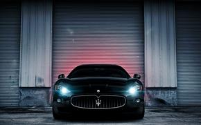 Картинка чёрный, Maserati, black, GranTurismo, мазерати, гран туризмо