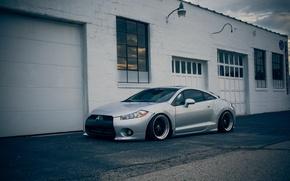 Картинка Mitsubishi, серая, Eclipse, гаражи, эклипс, мицубиси, stance