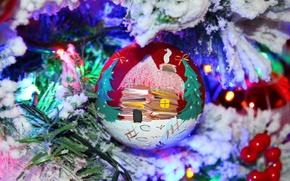 Картинка макро, праздник, игрушка