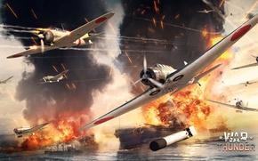 Картинка Kate, War Thunder, корабль, Reisen, Флотский авианосный ударный бомбардировщик Тип 97, Морской палубный истребитель тип …