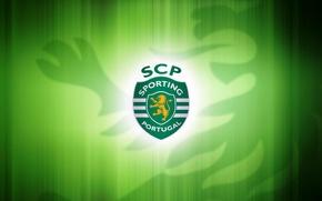 Картинка wallpaper, logo, football, artwork, Sporting Clube de Portugal
