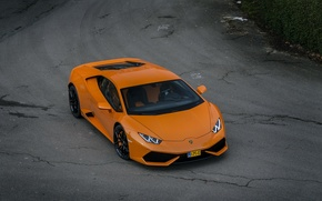 Картинка Lamborghini, Orange, Huracan, LP610-4