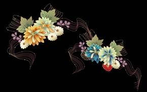 Картинка линии, цветы, узор, лепестки
