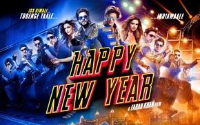Картинка city, lights, girl, Happy New Year, long hair, woman, man, dance, brunette, asian, film, restricted …