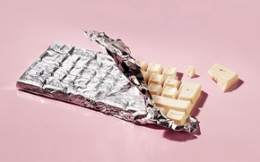 Обои Клава, шоколад, Белый