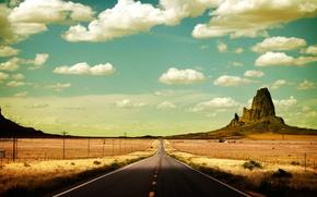 Картинка дорога, штаты, прерии