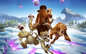 Картинка Ice Age, Crash, Blue Sky, Tiger, Buck, Animation, Seann William Scott, 20th Century Fox, Diego, …